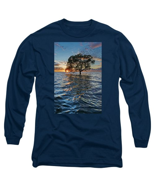 Out At Sea Long Sleeve T-Shirt by Robert Charity