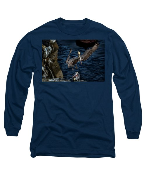 Outstretched Wings Long Sleeve T-Shirt by James David Phenicie