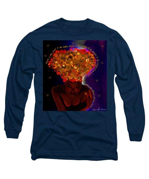 Oya Long Sleeve T-Shirt by Iowan Stone-Flowers