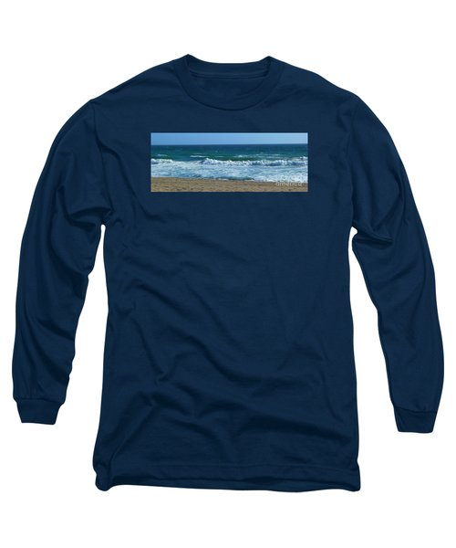 Long Sleeve T-Shirt featuring the photograph Pacific Ocean - Malibu by Nora Boghossian