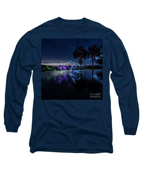 Palm Lights Long Sleeve T-Shirt