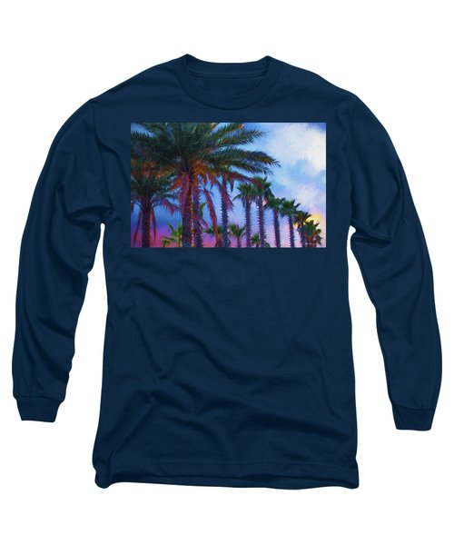 Palm Trees 3 Long Sleeve T-Shirt by Glenn Gemmell