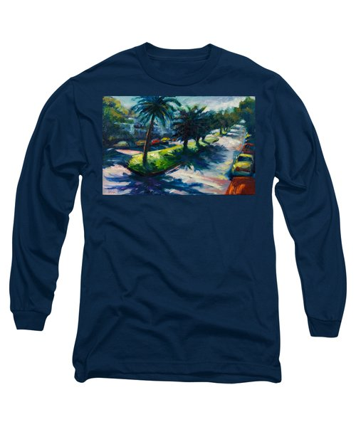 Palm Trees Long Sleeve T-Shirt by Rick Nederlof
