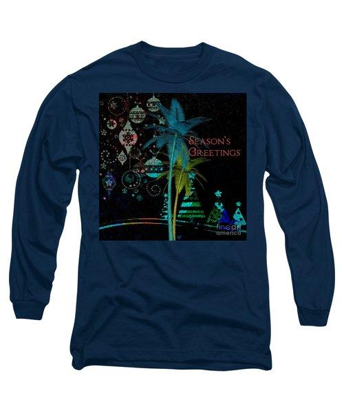 Palm Trees Season's Greetings Long Sleeve T-Shirt