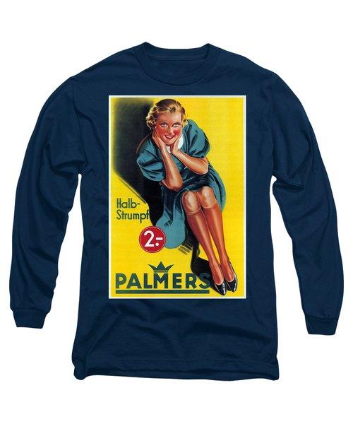 Palmers - Halb-strumpf - Vintage Germany Advertising Poster Long Sleeve T-Shirt