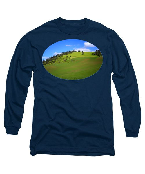 Palouse - Landscape - Transparent Long Sleeve T-Shirt by Nikolyn McDonald