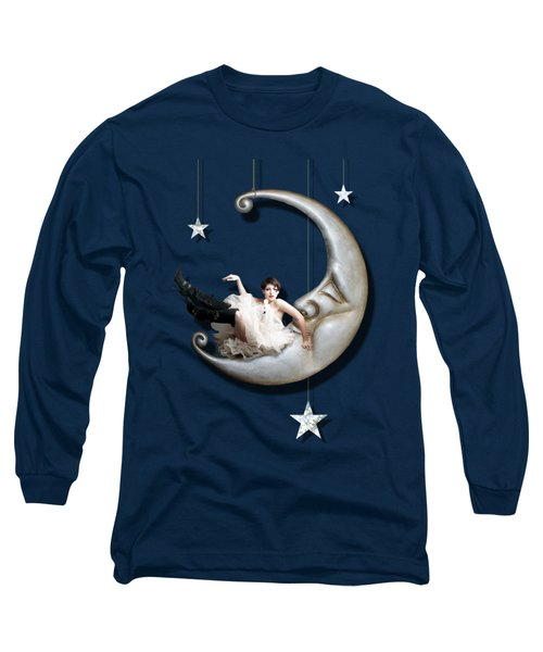 Paper Moon Long Sleeve T-Shirt by Linda Lees