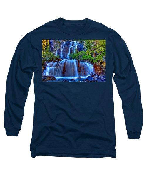Paradise Falls Long Sleeve T-Shirt by Scott Mahon