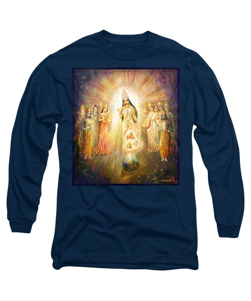 Parashakti Devi - The Great Goddess In Space Long Sleeve T-Shirt by Ananda Vdovic