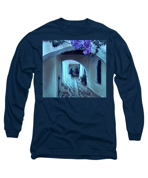 Long Sleeve T-Shirt featuring the photograph Paros Island Beauty by Colette V Hera Guggenheim