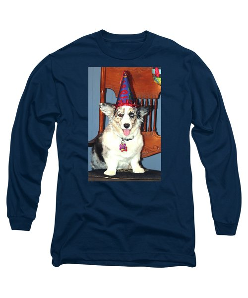 Party Time Dog Long Sleeve T-Shirt by Cathy Donohoue