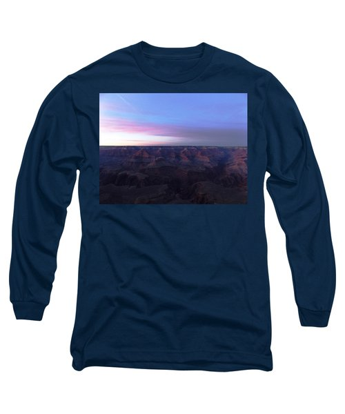 Pastel Sunset Over Grand Canyon Long Sleeve T-Shirt by Adam Cornelison