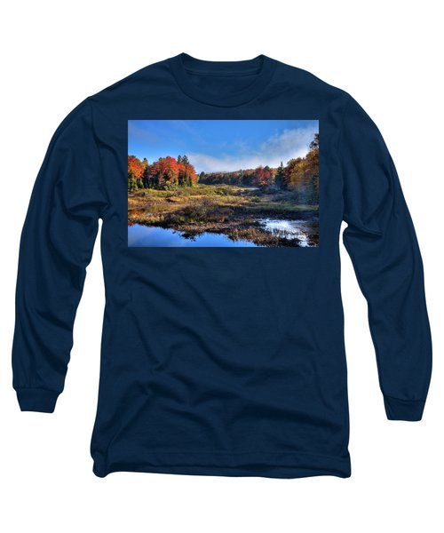 Long Sleeve T-Shirt featuring the photograph Patches Of Fog At The Green Bridge by David Patterson