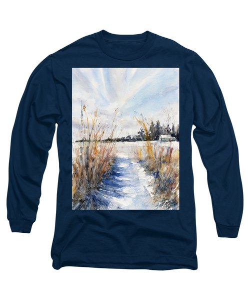 Path Shadows In The Way Back Long Sleeve T-Shirt by Judith Levins