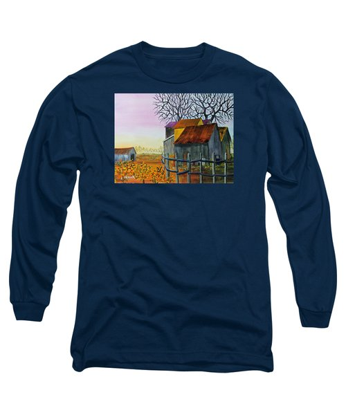 Long Sleeve T-Shirt featuring the painting Path To The Past by Jack G Brauer