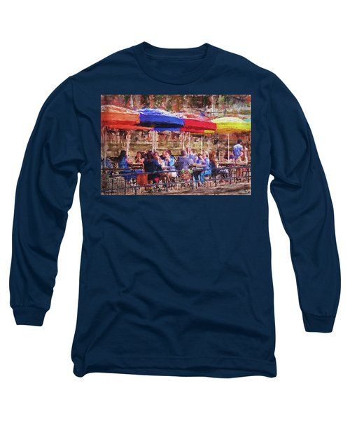 Patio At The Riverwalk Long Sleeve T-Shirt