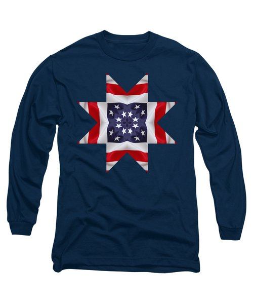 Patriotic Star 2 - Transparent Background Long Sleeve T-Shirt