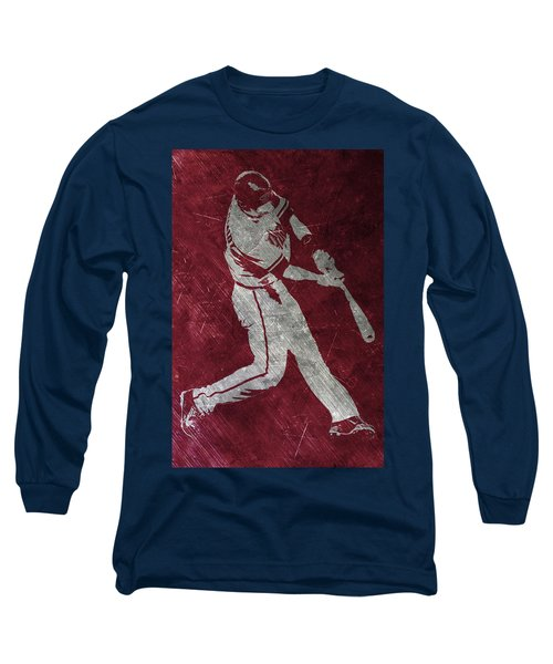 Paul Goldschmidt Arizona Diamondbacks Art Long Sleeve T-Shirt by Joe Hamilton