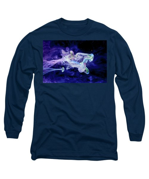 Peaceful Flow - Fine Art Photography - Paint Pouring Long Sleeve T-Shirt by Modern Art Prints