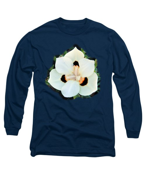Peacock Flower T-shirt Long Sleeve T-Shirt by Isam Awad