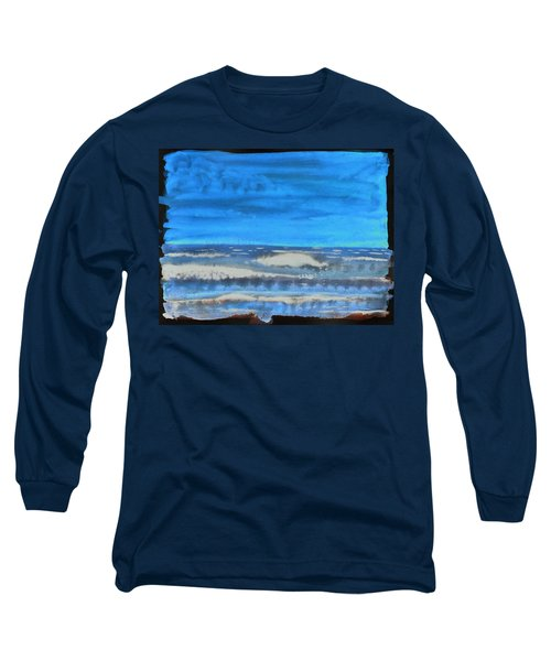 Long Sleeve T-Shirt featuring the painting Peau De Mer by Marc Philippe Joly
