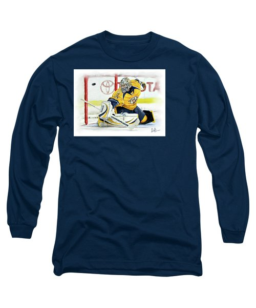 Long Sleeve T-Shirt featuring the photograph Pekka Rinne by Don Olea