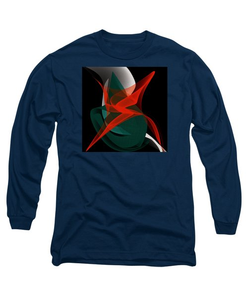 Long Sleeve T-Shirt featuring the painting Penman Original-263-private Dancer by Andrew Penman