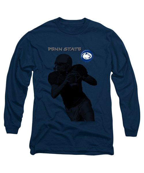 Long Sleeve T-Shirt featuring the digital art Penn State Football by David Dehner