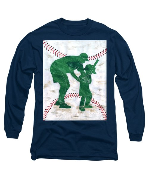People At Work - The Little League Coach Long Sleeve T-Shirt by Lori Kingston