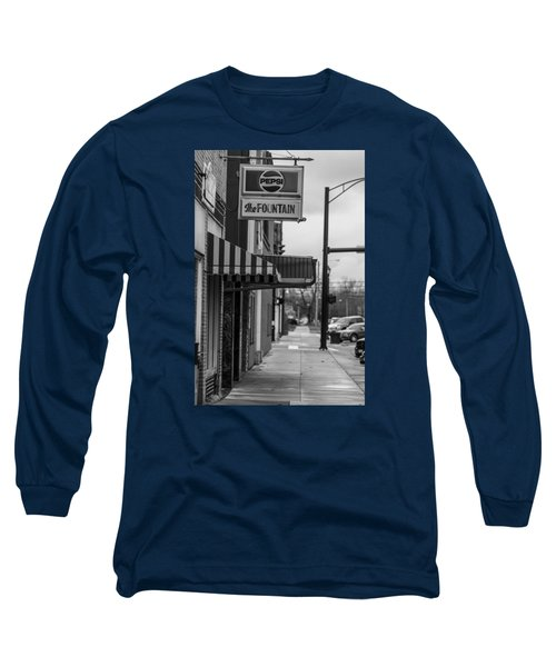 Pepsi The Fountain Sign Long Sleeve T-Shirt by John McGraw