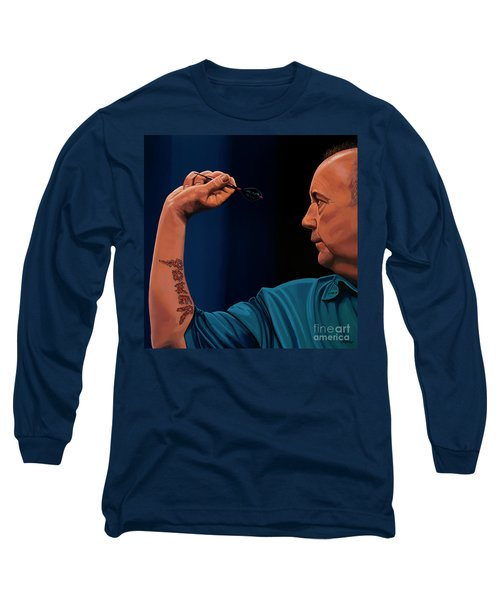 Phil Taylor The Power Long Sleeve T-Shirt by Paul Meijering