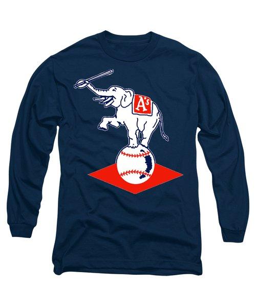 Philadelphia Athletics Retro Logo Long Sleeve T-Shirt by Spencer McKain