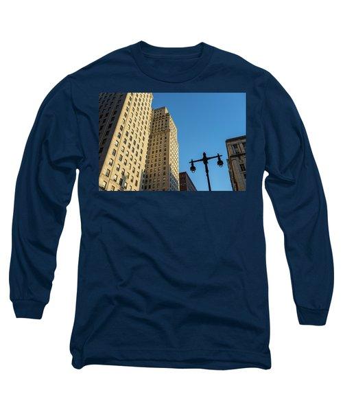 Philadelphia Urban Landscape - 0948 Long Sleeve T-Shirt by David Sutton