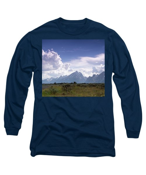 Long Sleeve T-Shirt featuring the photograph Photographing The Tetons by Dawn Romine