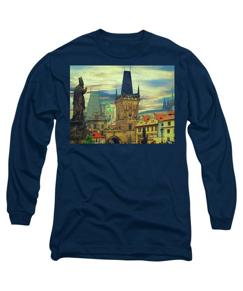 Long Sleeve T-Shirt featuring the photograph Picturesque - Prague by Leigh Kemp