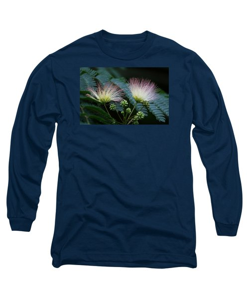 Pink Mimosa  Long Sleeve T-Shirt by Yvonne Wright