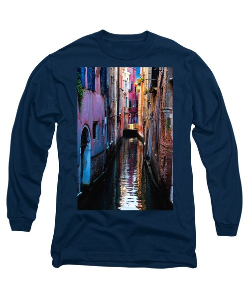 Pink Canal Long Sleeve T-Shirt by Harry Spitz