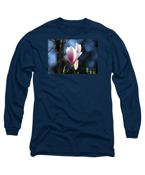 Long Sleeve T-Shirt featuring the photograph Pink Magnolia 20120402_129a by Tina Hopkins