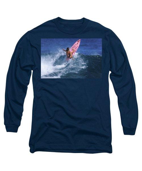 Pink Surfer. Long Sleeve T-Shirt