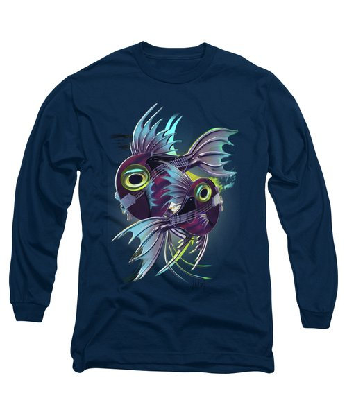 Pisces Long Sleeve T-Shirt by Melanie D