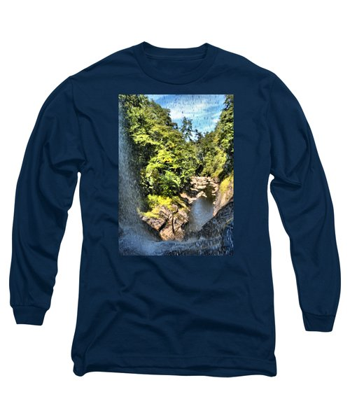 Pitcher Falls And Cullasaja Gorge Long Sleeve T-Shirt by James Potts