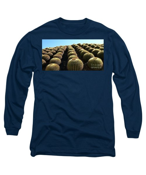 Planet Of Cactus Long Sleeve T-Shirt by Anna  Duyunova