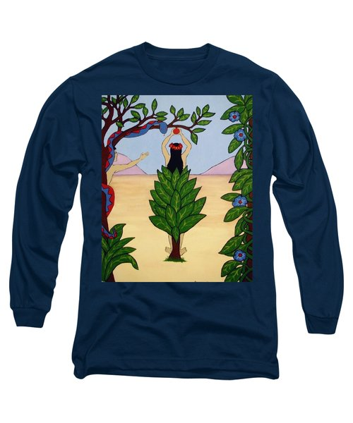 Long Sleeve T-Shirt featuring the painting Please Don't Pick That Apple by Stephanie Moore