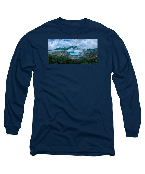 Poas Volcano, Costa Rica Long Sleeve T-Shirt by RC Pics