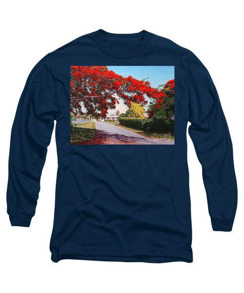 Poinciana Shadows Long Sleeve T-Shirt