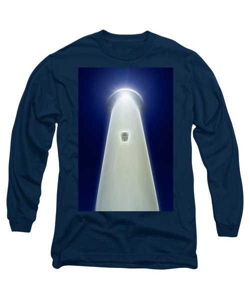 Long Sleeve T-Shirt featuring the digital art Point Arena Lighthouse by Holly Ethan