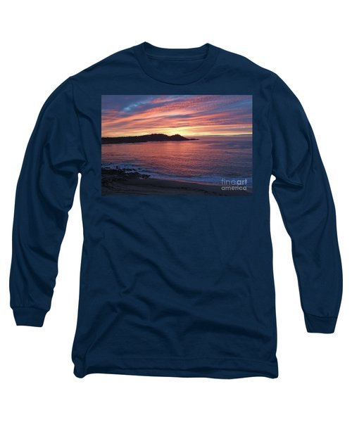 Point Lobos Red Sunset Long Sleeve T-Shirt