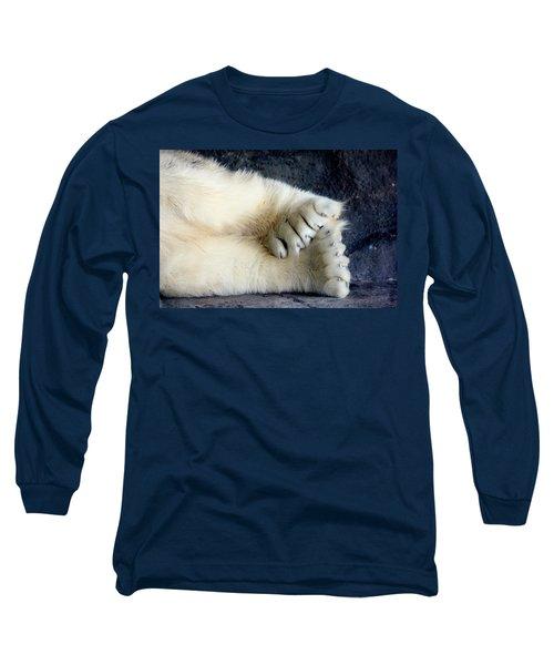 Polar Bear Paws Long Sleeve T-Shirt