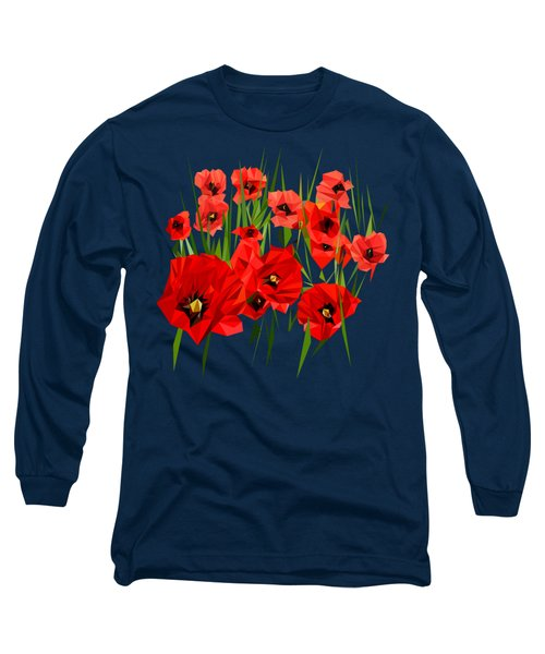 Poppies, I Remember Long Sleeve T-Shirt