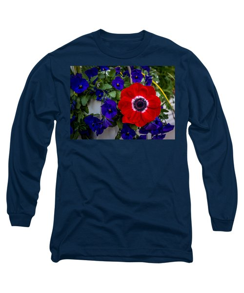 Poppy And Pansies Long Sleeve T-Shirt